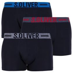 3PACK pánské boxerky S.Oliver černé (26.899.97.4229.12C3)