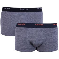 2PACK pánské boxerky S.Oliver šedé (26.899.97.4252.95W1)