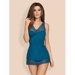 Košilka Obsessive Miamor chemise turquoise