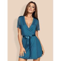 Košilka Obsessive Miamor robe a thong turquoise