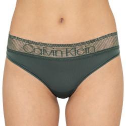Dámské kalhotky Calvin Klein khaki (QD3698E-AMH)
