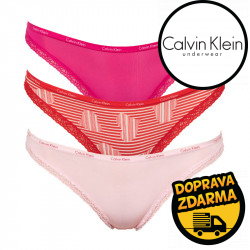 3PACK dámské kalhotky Calvin Klein vícebarevné (QD3591E-QQ3)